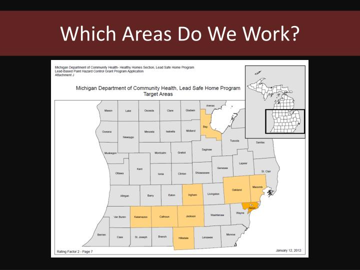 Which Areas Do We Work?