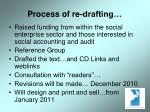 process of re drafting