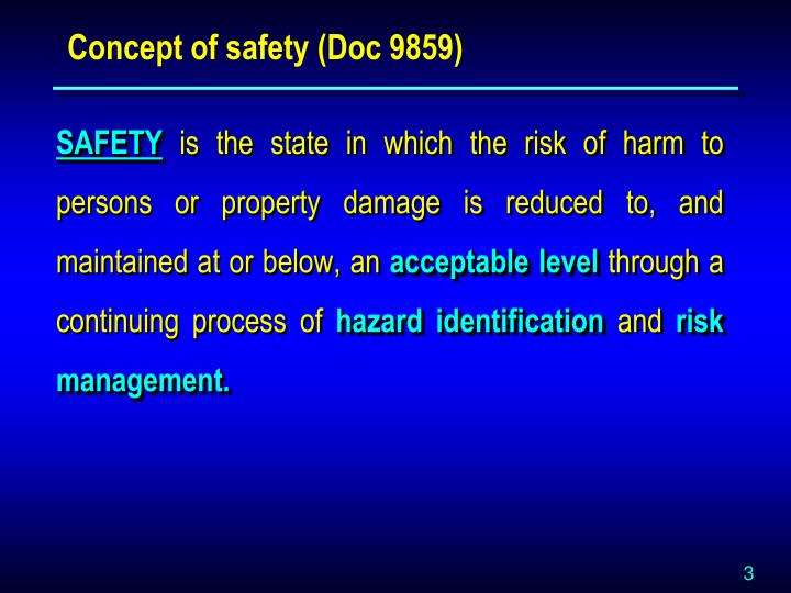 Concept of safety (Doc 9859)