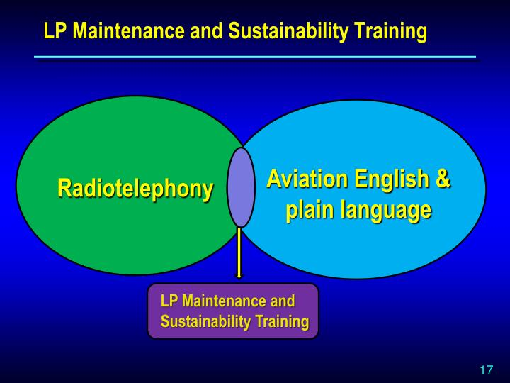 LP Maintenance and Sustainability Training