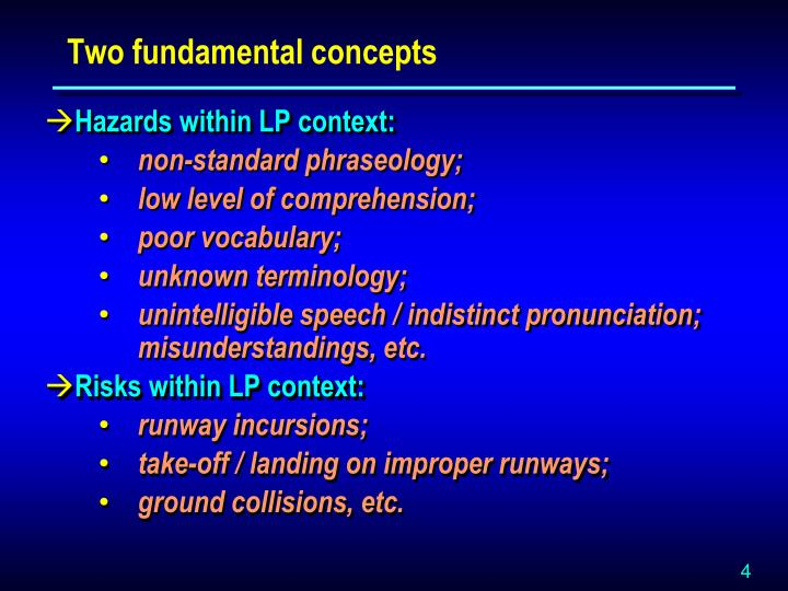 Two fundamental concepts