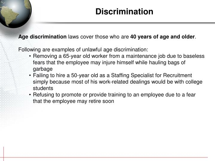 Discrimination