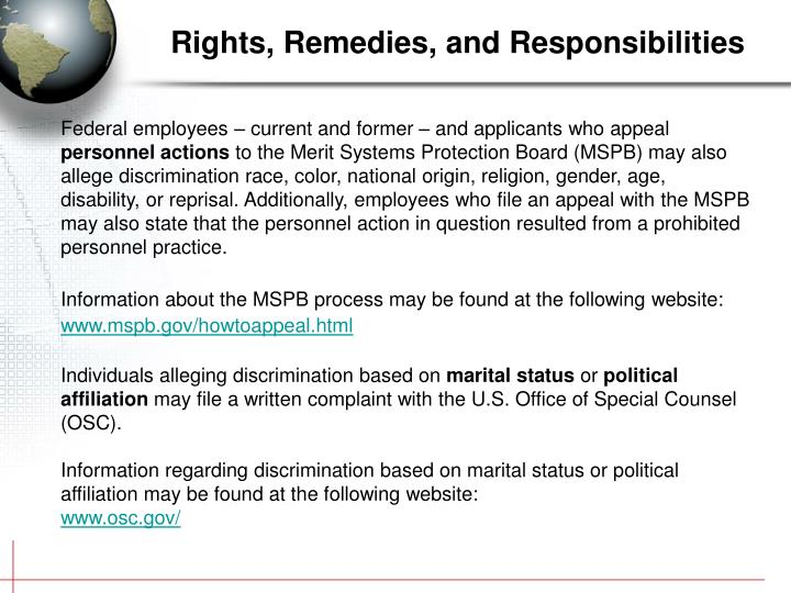 Rights, Remedies, and Responsibilities