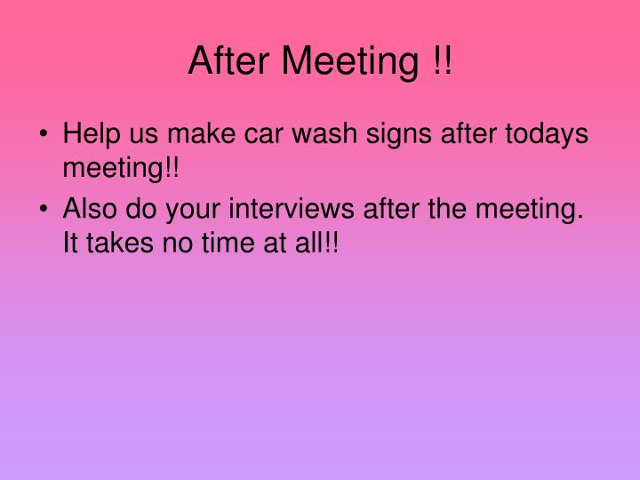 After Meeting !!