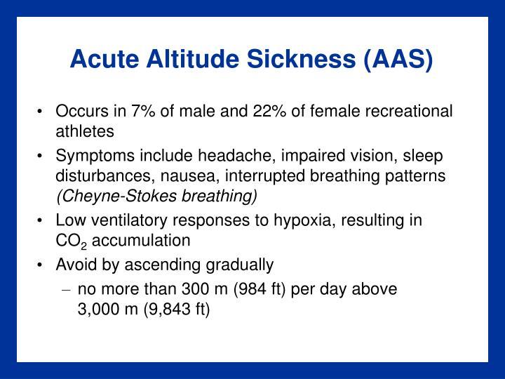 Acute Altitude Sickness (AAS)