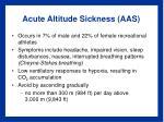 acute altitude sickness aas