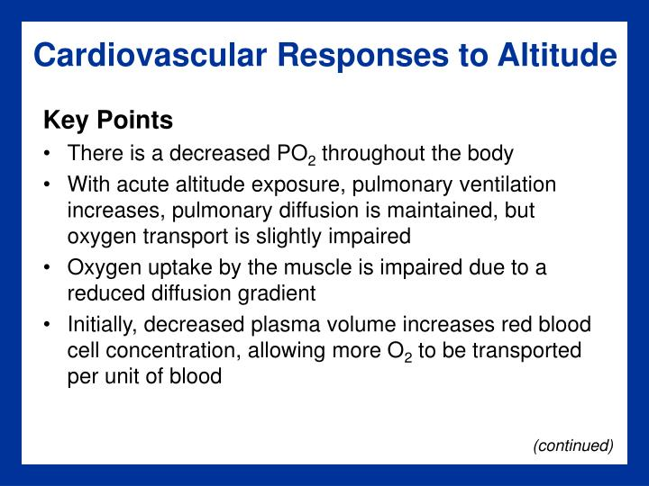 Cardiovascular Responses to Altitude
