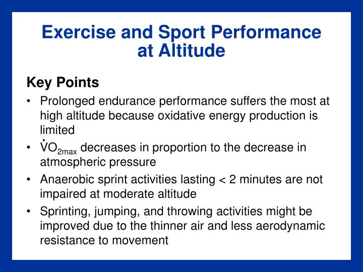 Exercise and Sport Performance