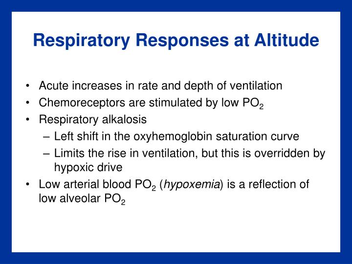 Respiratory Responses at Altitude