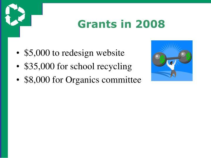 Grants in 2008