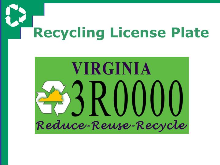 Recycling License Plate