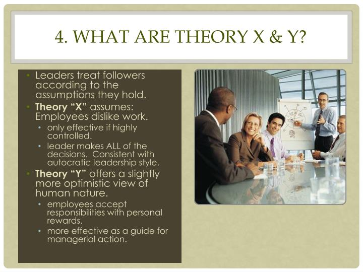 4. What are Theory X & Y?