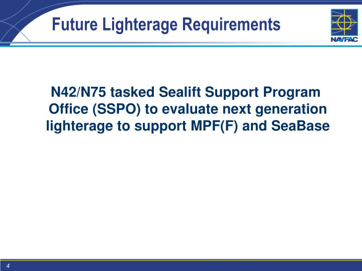 Future Lighterage Requirements