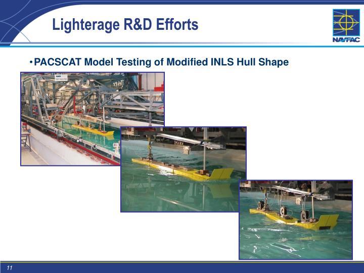 Lighterage R&D Efforts