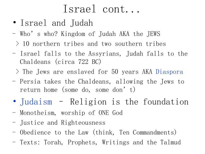 Israel cont...