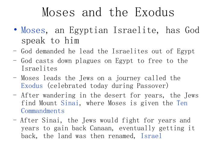 Moses and the Exodus