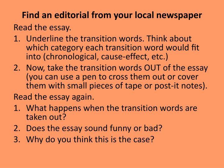 pattern of organization of essay