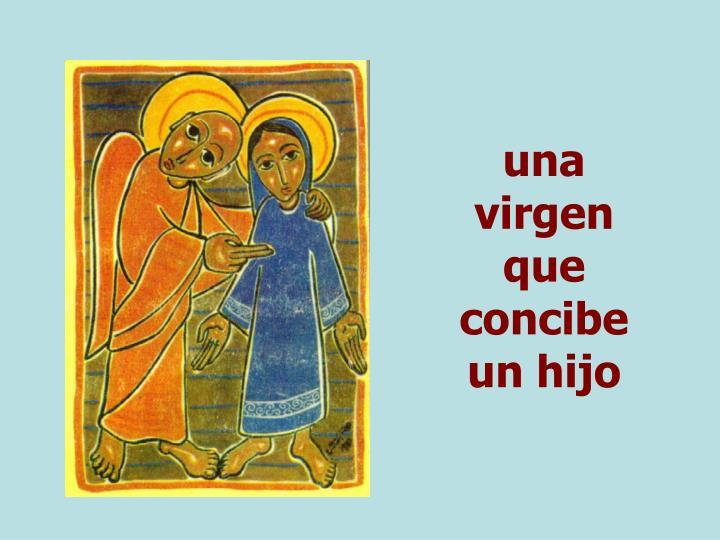 una virgen que concibe un hijo