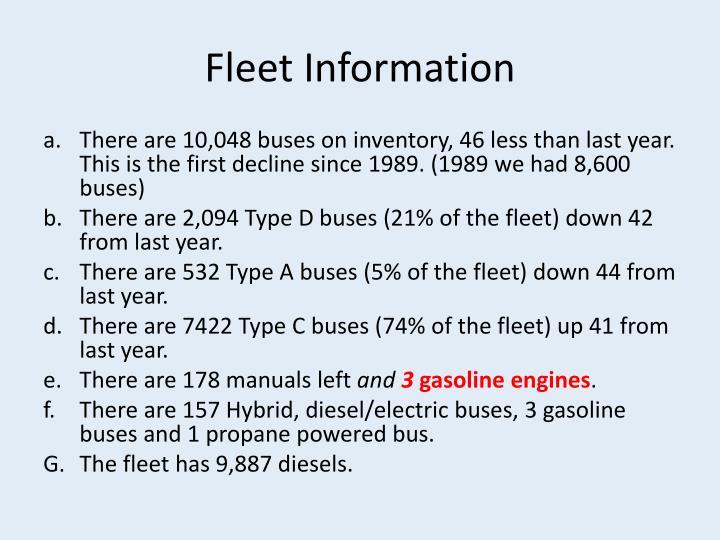 Fleet Information