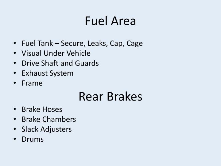Fuel Area