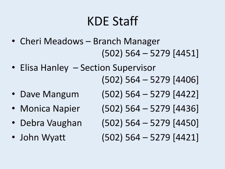 KDE Staff