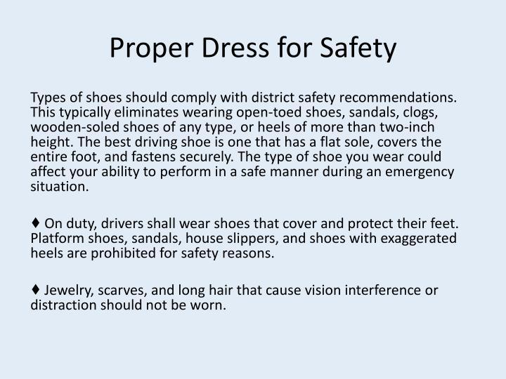 Proper Dress for Safety
