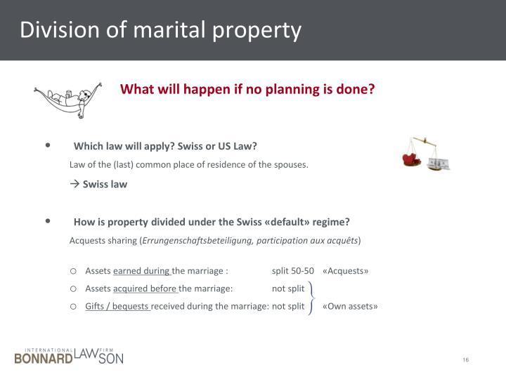 Division of marital