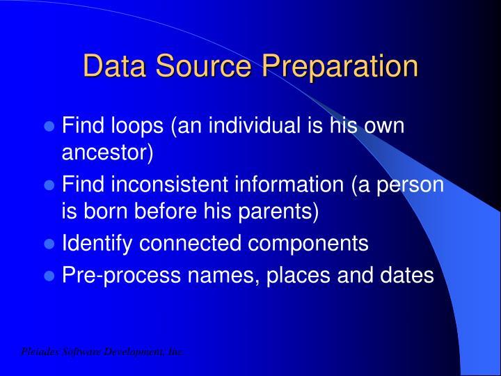 Data Source Preparation