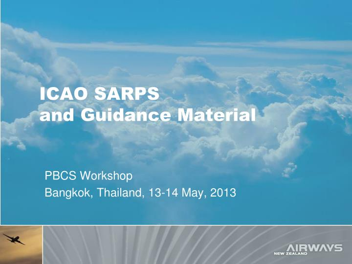 Icao sarps and guidance material