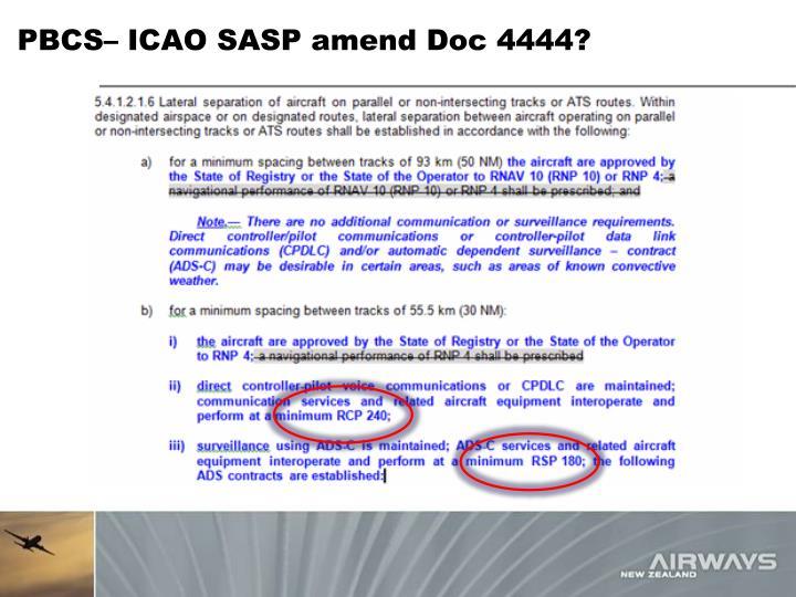 PBCS– ICAO SASP amend Doc 4444?