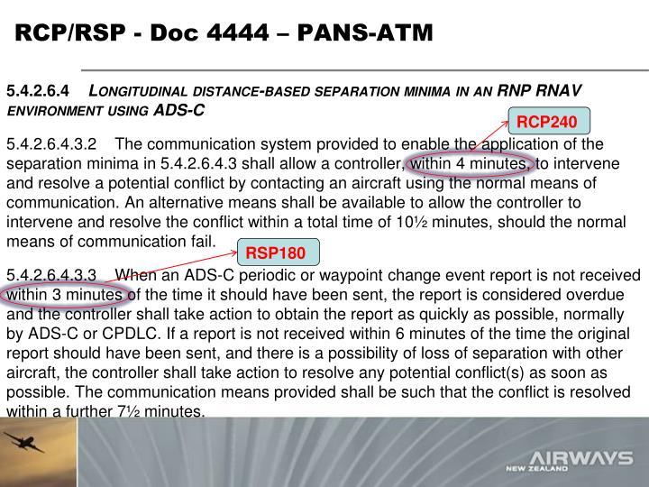 RCP/RSP - Doc 4444 – PANS-ATM