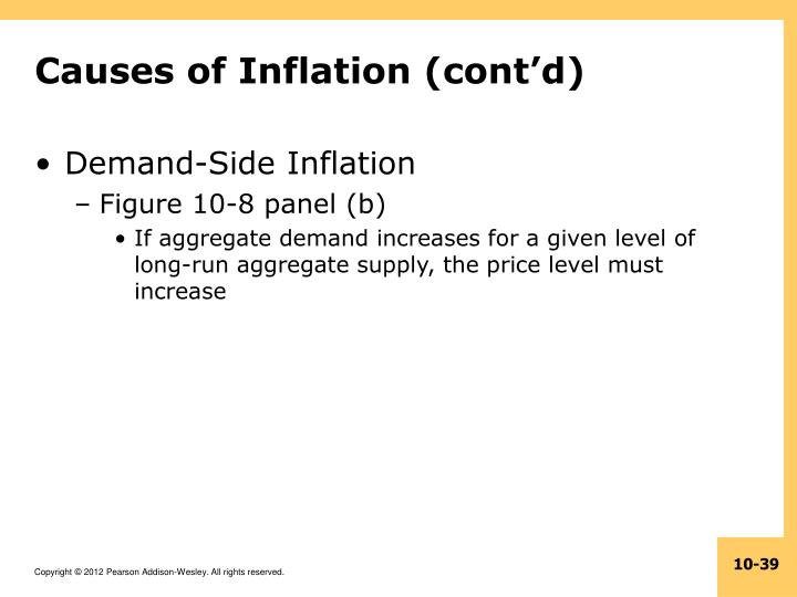 Causes of Inflation (cont'd)