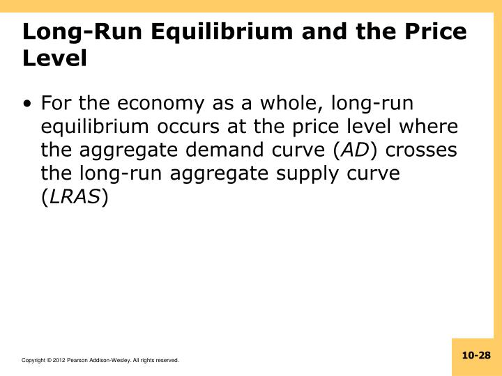 Long-Run Equilibrium and the Price Level