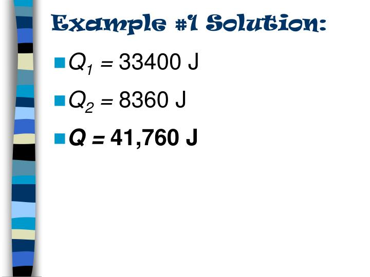 Example #1 Solution: