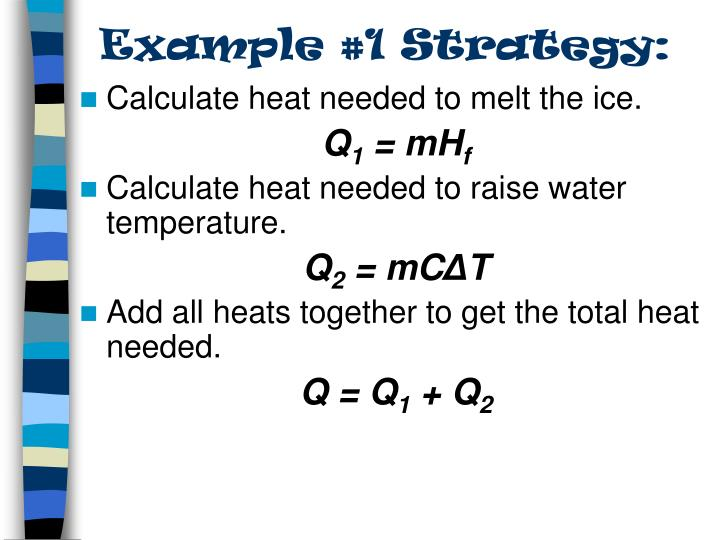 Example #1 Strategy: