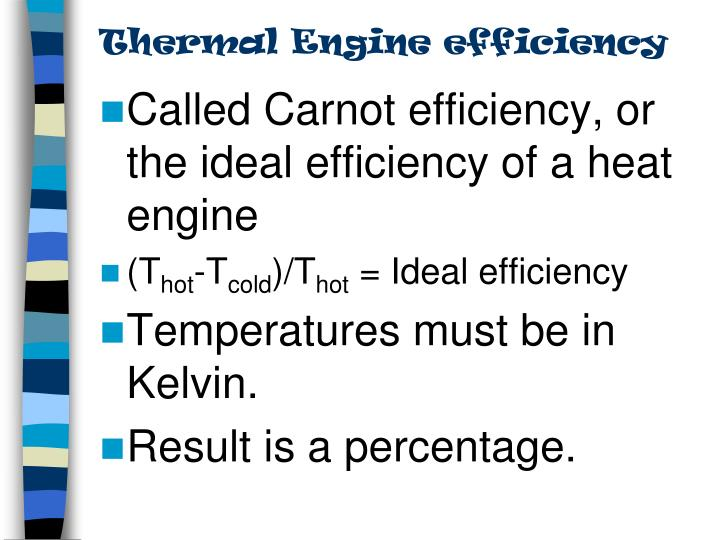 Thermal Engine efficiency