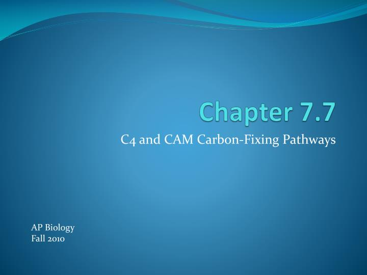 Chapter 7.7