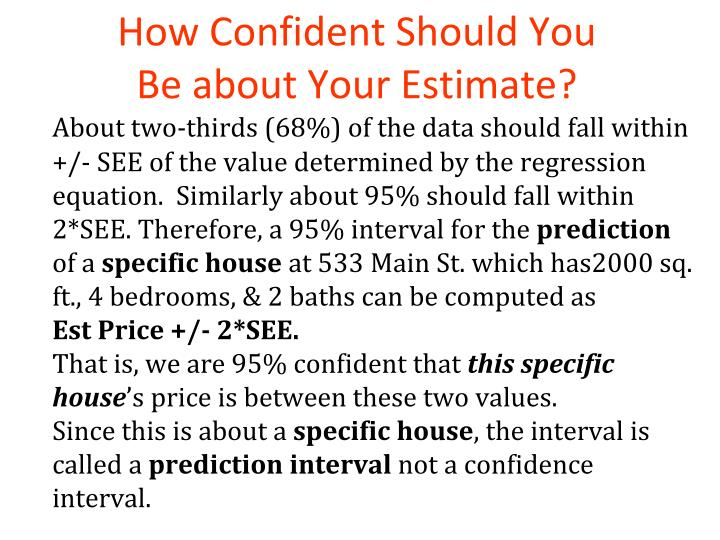 How Confident Should You Be about Your Estimate?