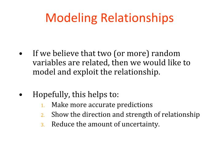 Modeling Relationships