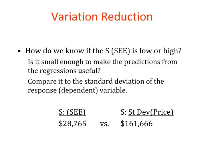 Variation Reduction