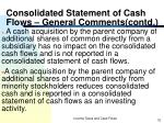 consolidated statement of cash flows general comments contd2