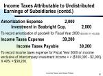 income taxes attributable to undistributed earnings of subsidiaries contd4