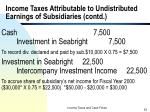 income taxes attributable to undistributed earnings of subsidiaries contd5