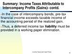 summary income taxes attributable to intercompany profits gains contd1