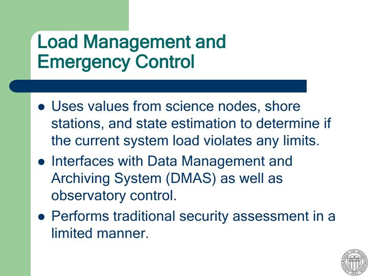 Load Management and