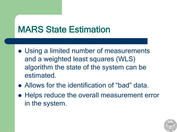 MARS State Estimation