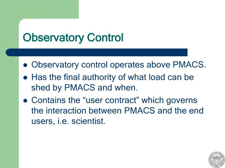 Observatory Control