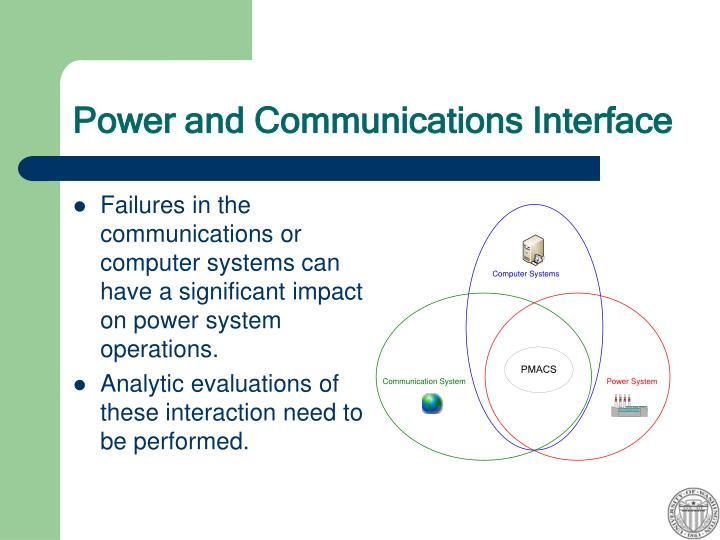 Power and Communications Interface
