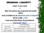 swadhan liquidity