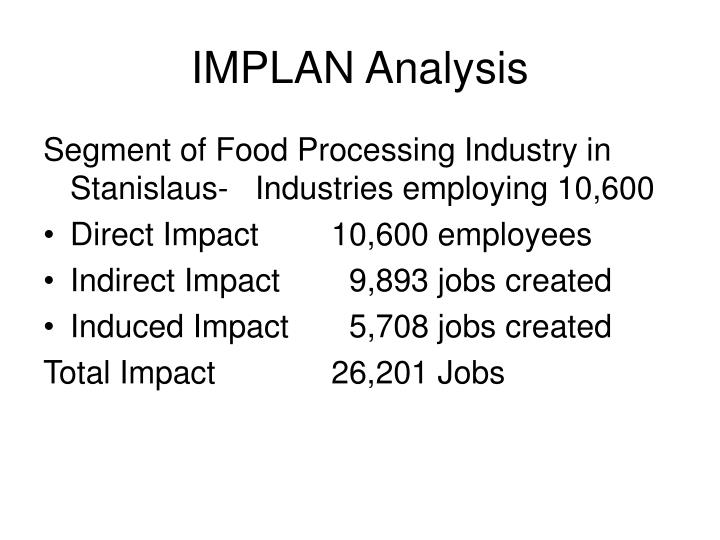 IMPLAN Analysis